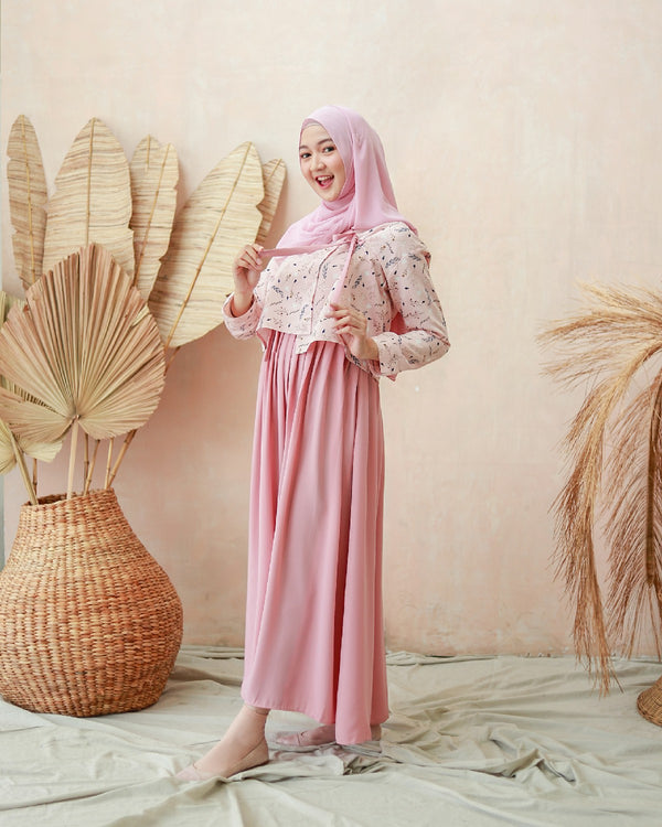 (Reject Minor) Autumn Hanbok Maxidress Blush Pink