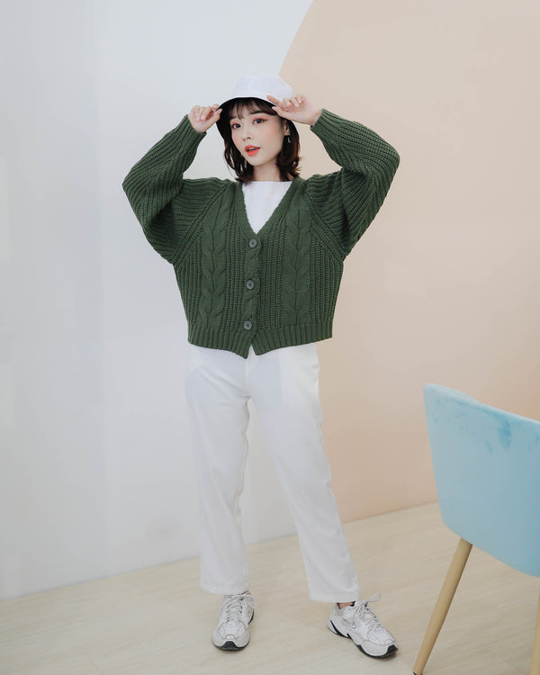 Yoo In Na Cardigan Olive