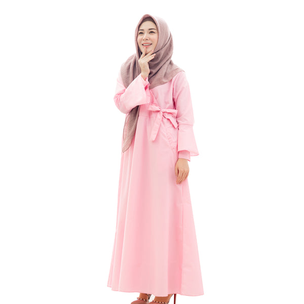 Winter Korean Maxidress Pink