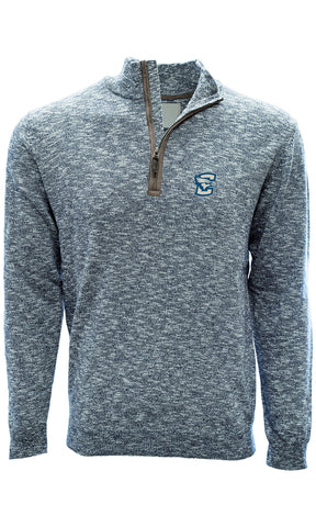 Men's Salute Marina Heather 1/4 Zip - Navy
