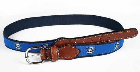 Creighton Jays Ribbon Belt - Navy