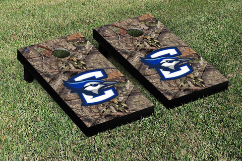 Creighton Cornhole Set- The Mossy Oak