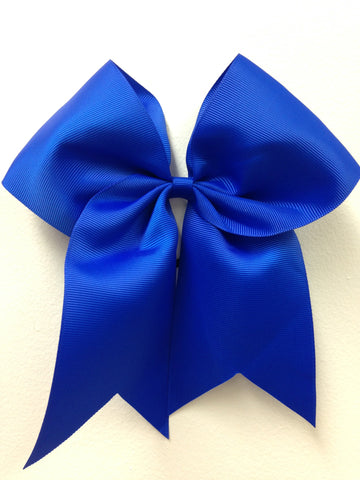 Royal Blue Grosgrain 8 inch ponytail bow