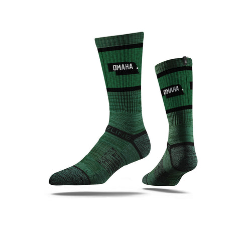 Strideline Omaha Green Sock