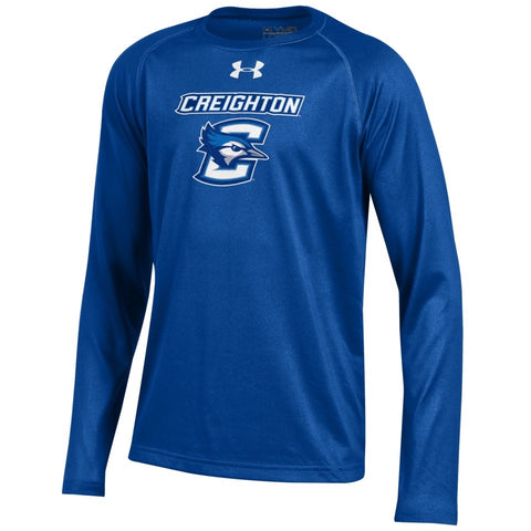 Youth Under Armour Long Sleeve Royal Tech Tee
