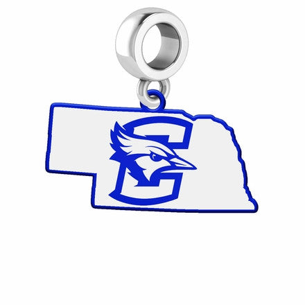 Creighton Dangle Charm - State Outline with Logo