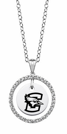 Creighton Sterling Silver and White CZ Circle Necklace
