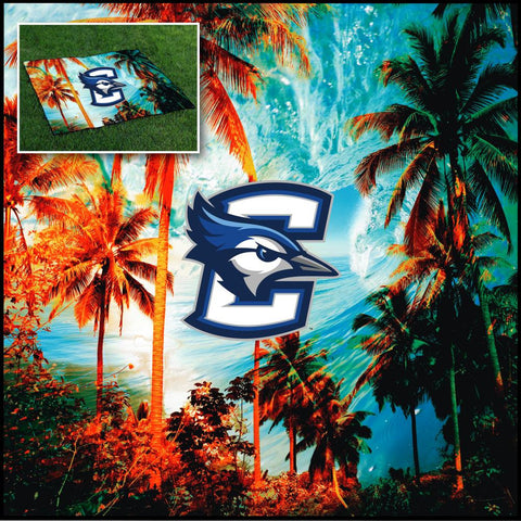 CREIGHTON UNIVERSITY BLUEJAYS TAILGATE BLANKET TROPICAL