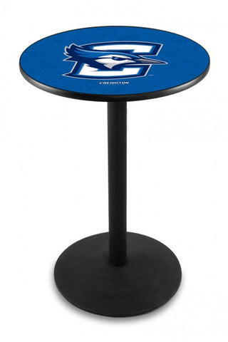 Creighton University Pub Table Black - Round Base