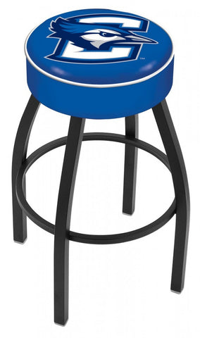 Creighton University Backless Swivel Bar Stool - White Trim