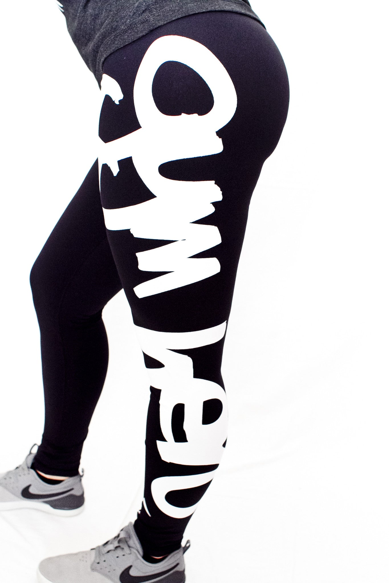 "Gym Hero ""Graffiti"" Training Pants (White) - Gym Hero"