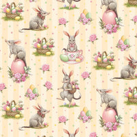 Devonstone Collections- Easter Bilby- Orange Stripe-100% Cotton- WOVEN