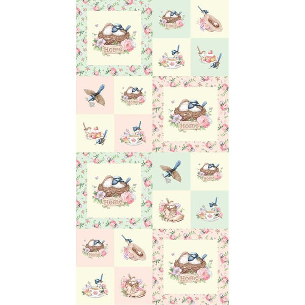 wren cotton quiling panel fabric