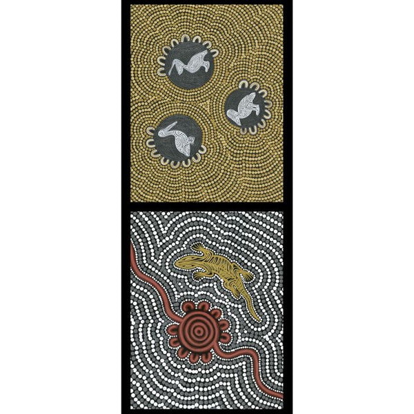 Devonstone Collection- Ngurambang- Pelican- Sand Goanna- Panel- 100% Cotton- WOVEN