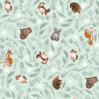 Little Aussie Friends- Mint- Small Animals- 100% COTTON