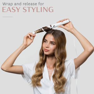 SinglePass Wave Professional Tapered Ceramic Styling Wand