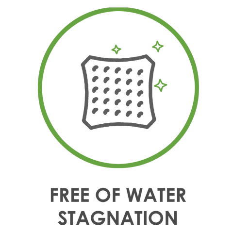 Free of Water Stagnation
