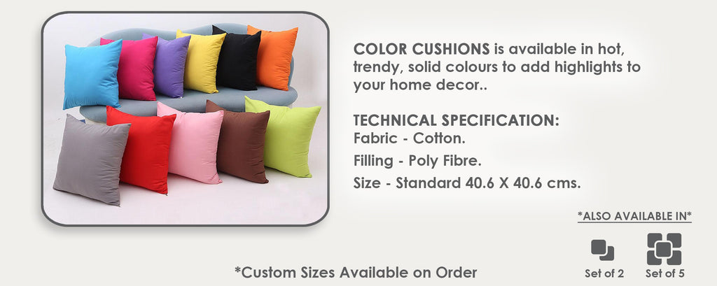Color Cushions (40x40 cm)