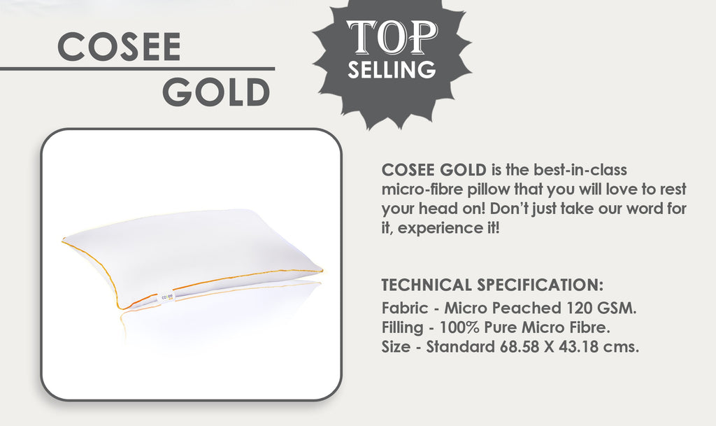 Gold Micro Fibre Pillow
