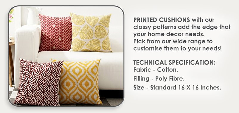 Printed Design Cushion