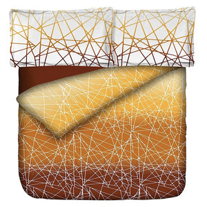 Aura Lines Of Love King Size Cotton Bed Sheet (275 x 305 cm) - SleepCosee