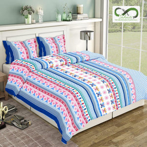 Infinite Butterfly Pattern Pure Cotton King Size Bed Sheets (275x275 cm) - SleepCosee