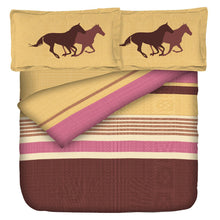 Load image into Gallery viewer, Aura Pony Horse Ride King Size Cotton Bed Sheet (108 x 120 inch) - SleepCosee