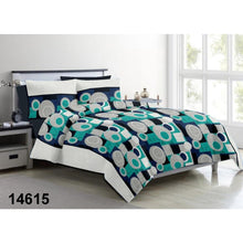 Load image into Gallery viewer, Aura Dots and Boxes King Size Cotton Bed Sheet (275 x 305 cm) - SleepCosee