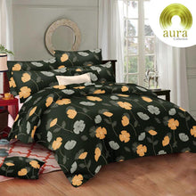 Load image into Gallery viewer, Aura Hibiscus Flower King Size Cotton Bed Sheet (275 x 305 cm) - SleepCosee