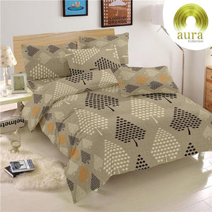 Aura Pine Spade King Size Cotton Bed Sheet (275 x 305 cm) - SleepCosee