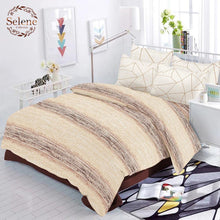 Load image into Gallery viewer, Selene Shaded Stripe Cotton King Size Bed Spread (275 x 305 cm) - SleepCosee