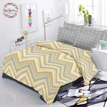 Load image into Gallery viewer, Selene ZigZag Cotton King Size Bed Spread (275 x 305 cm) - SleepCosee