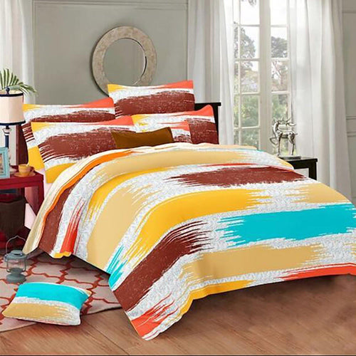 Selene Colorful Shaded Cotton King Size Bed Spread (275 x 305 cm) - SleepCosee