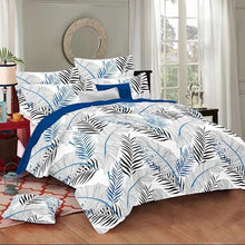 Load image into Gallery viewer, Selene Huge Leaf Cotton King Size Bed Spread (108 x 107 inch) - SleepCosee