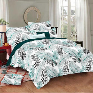 Selene Huge Leaf Cotton King Size Bed Spread (108 x 107 inch) - SleepCosee