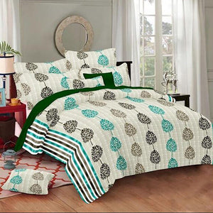 Selene Pine Tree Cotton King Size Bed Spread (108 x 107 inch) - SleepCosee