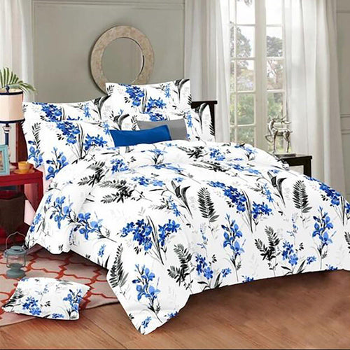Selene Dreamy Leaf Cotton King Size Bed Spread (275 x 305 cm) - SleepCosee