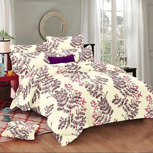 Selene Sweet Cherry Cotton King Size Bed Spread (275 x 305 cm) - SleepCosee