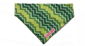 "Retro Style Green  ""Slip On"" Personalized Bandana"