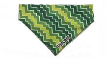 "Load image into Gallery viewer, Retro Style Green  ""Slip On"" Personalized Bandana"