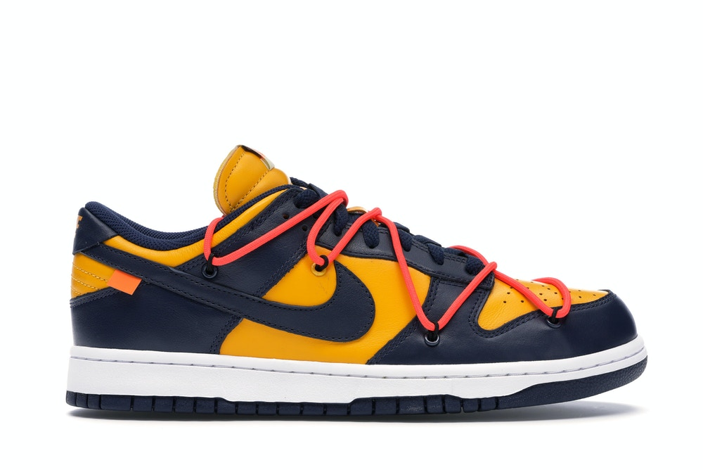 Nike Dunk Low Off-White Gold Midnight Navy
