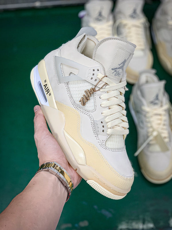 Jordan 4 Off-White Sail