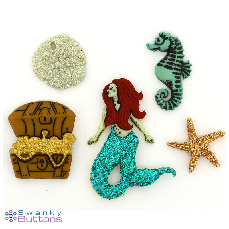Sea Siren Buttons