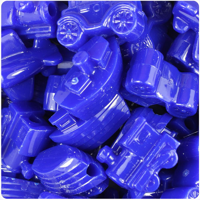 Royal Blue Opaque Mini Mobile Pony Beads (10pcs)