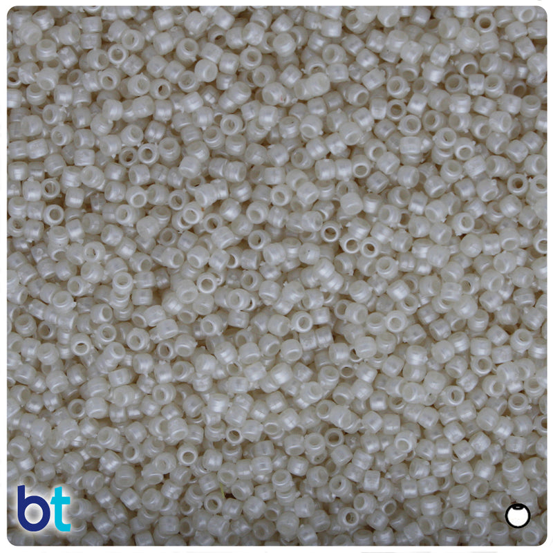 Natural Pearl 2.5mm Round Plastic Seed Beads (10g)
