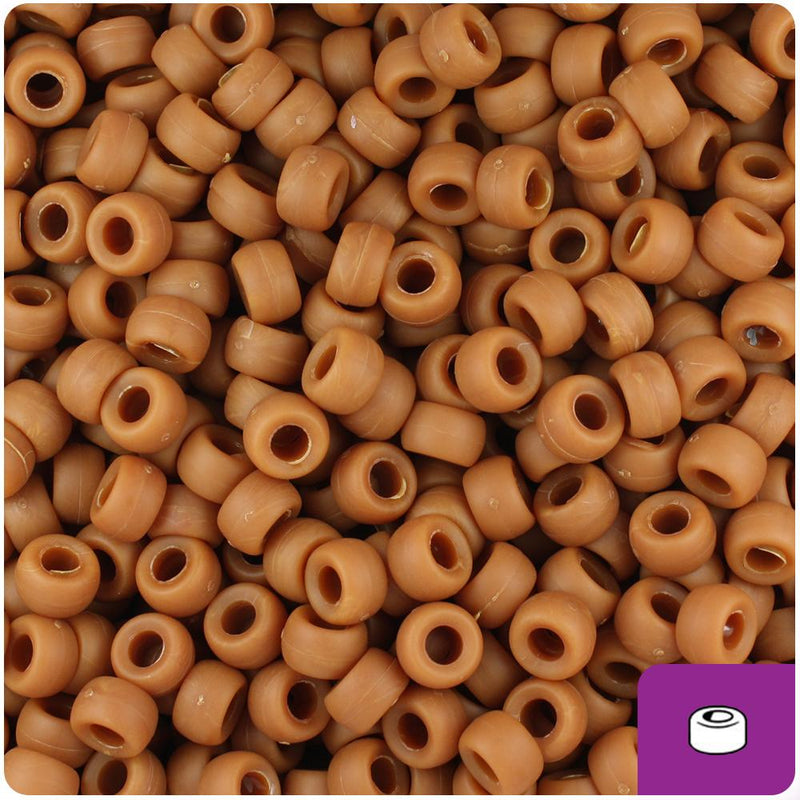 Tiger Eye Matte 6.5mm Mini Barrel Pony Beads (200pcs)