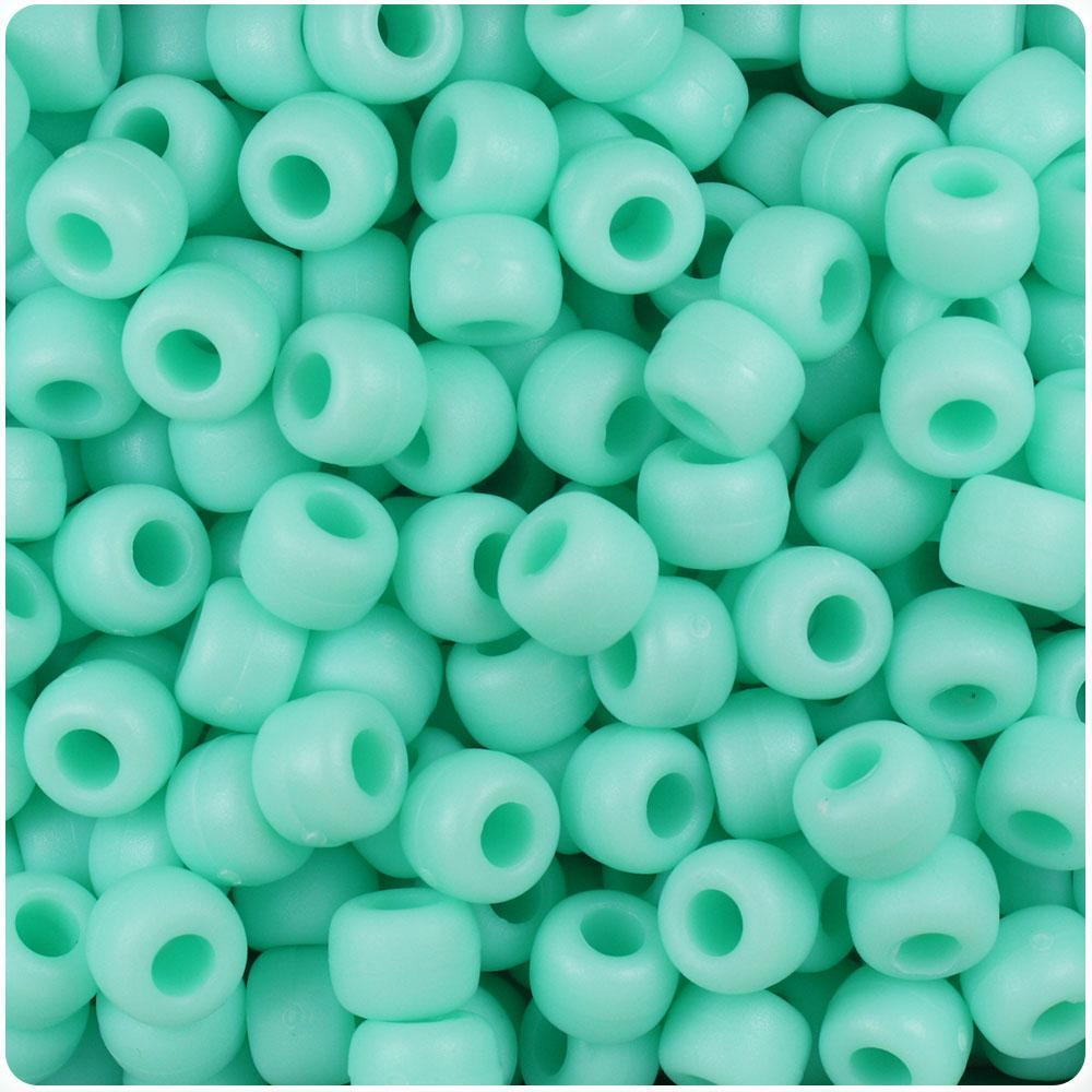 500 Periwinkle Blue Matte 9mm Barrel Plastic Pony Beads Made in the USA
