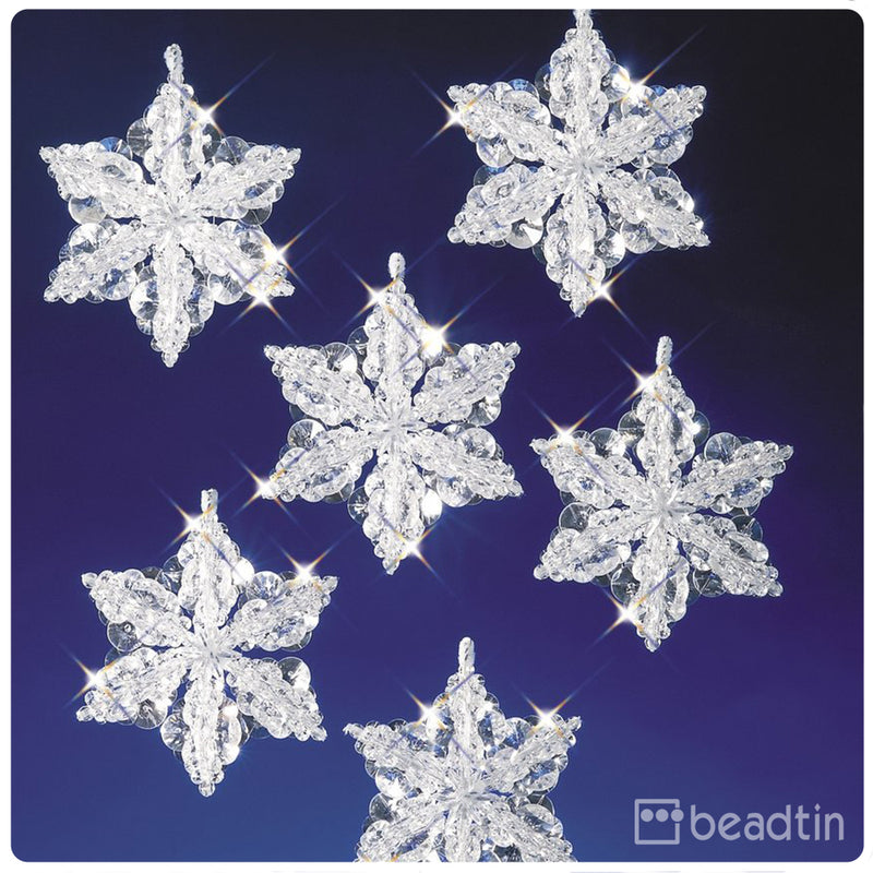 Snow Crystals Holiday Ornament Kit