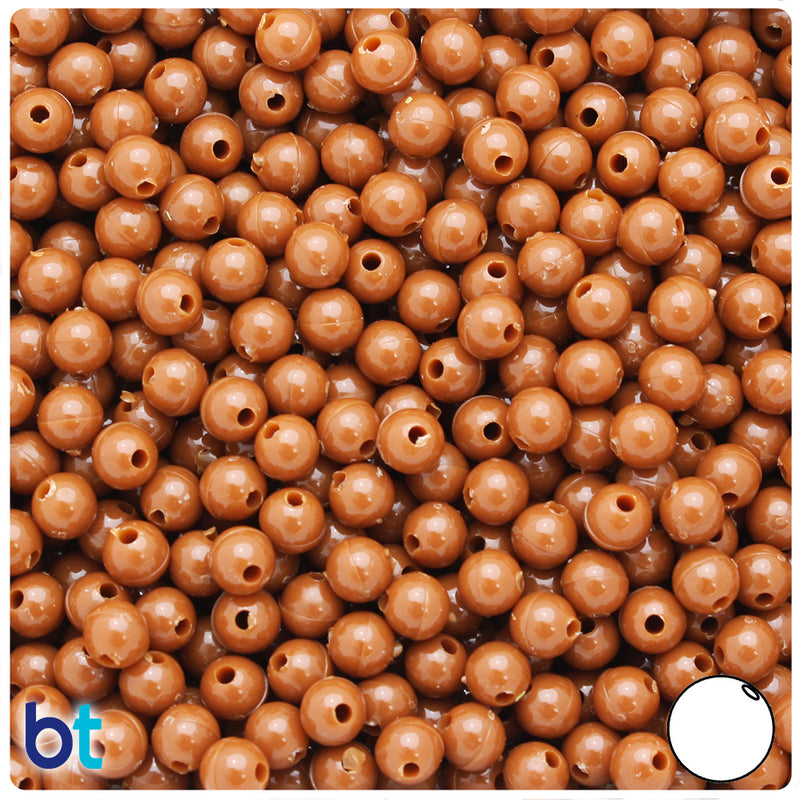Tiger Eye Opaque 6mm Round Plastic Beads (500pcs)