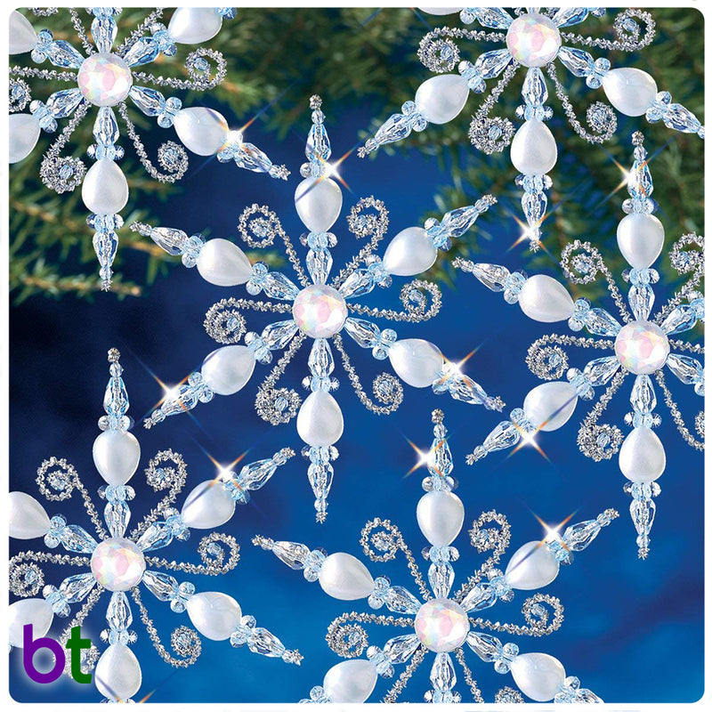 Light Sapphire Snowflakes Holiday Ornament Kit